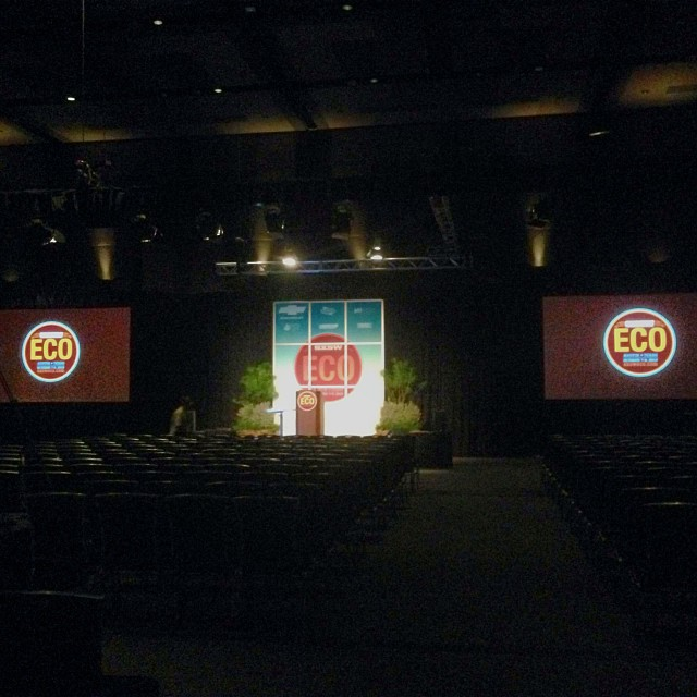 Look at that stage! Looks great! ;) There have been some amazing speakers so far, and many many more to come! Looking forward to seeing you here! @sxsweco #sxsweco #greenindustry #atx #stage #plantdecor