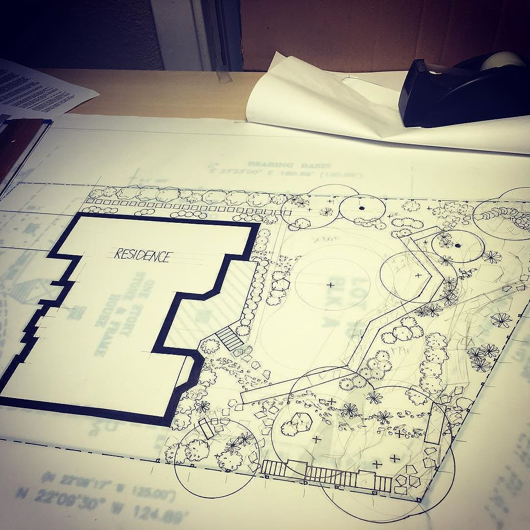 Progress photo from a rocky slope design with boardwalks and boulder staircases. Excited for this one guys!