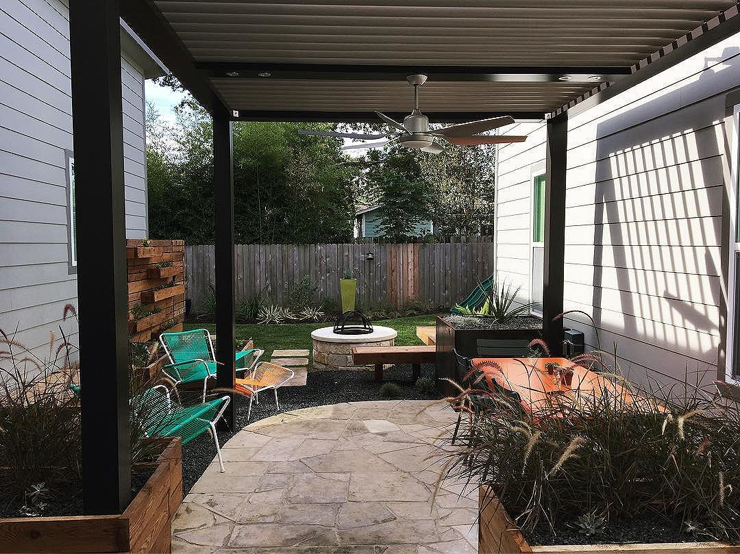 Our latest installation with a beautifully calming backyard courtyard! Keep checking back for the final after photos- you won't believe this transformation!